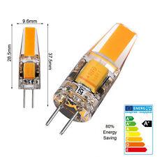 G4 COB Luz LED Bombilla 10pcs G4 6W LED Lámpara AC/DC12V Halógeno Repuesto Bulbo
