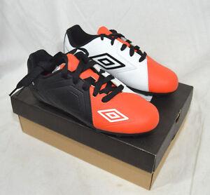 Umbro Youth Spire HG Soccer Cleats Black Orange & White Size 4 or 5