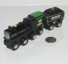 Black Locomotive Engine Wooden Railway Train - works w/ Thomas & Friends, BRIO