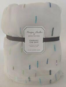 Pottery Barn Kids Monique Lhuillier Starburst tulle sequin crib skirt, nursery