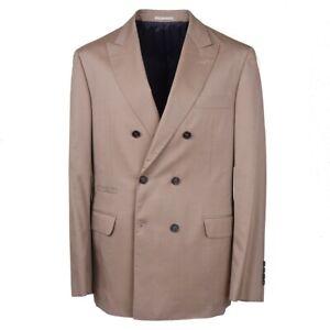 NWT $4495 BRUNELLO CUCINELLI Herringbone Cotton-Wool-Silk Summer Suit 36 R
