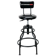Pittsburgh AutomotiveAdjustable Shop Stool with Backrest
