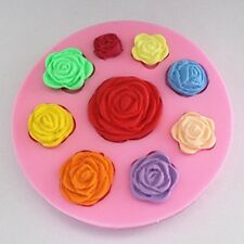 Roses Silicone Mold - 9 cavities Rose Flower Fondant Mold