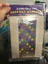 "Mardi Gras Foil Doorway Danglers 78"" New!!!"