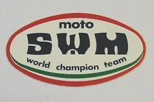 Vecchio Adesivo da Collezione /Old Sticker MOTOCROSS SWM team (cm 8 x 4)