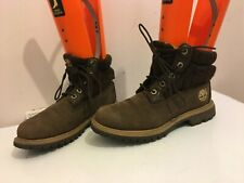 TIMBERLAND GENUINE LEATHER BROWN SIZE 4 WOMENS LADIES MILITARY BOOTS SHOES
