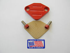 Red Powder Coated EGR Delete Jeep Cherokee, CJ5, CJ6, CJ7, Wrangler, Wagoneer