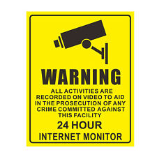 1x  Video Surveillance Sticker CCTV Security Camera Alarm Decal Warning Sign New