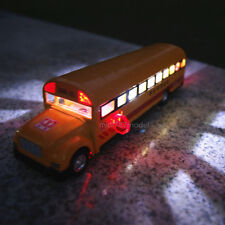 School Bus Alloy Diecast Model Cars Sound&Light toys Children's gifts Orange New