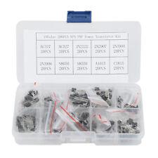 200pcs 10 Values NPN PNP Power Transistor Assortment Kit W/ Box BC337 BC547 Etc.