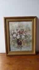 Huile sur panneau.Vase de fleurs.Tableau Peinture signée.Blyweert.Oil pannel.