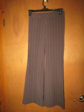 Junior Size 1 Dress Pants Striped Brown Tan Pink Brand Old College Inn