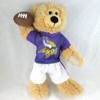 "Good Stuff Minnesota Vikings Bear Plush Football Jersey Stuffed Animal Brown 12"""