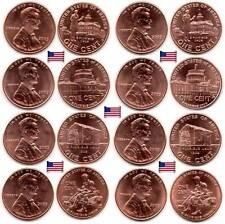 USA - Cent 2009 LP1/LP2/LP3/LP4 - D & P (no letter) - 8 coins lots - UNC