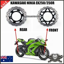 New Motorcycle Front Rear Brake Disc Rotor Kawasaki Ninja EX250 250R 2008-2012