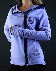 Victoria's Secret PINK High Low Full Zip Hoodie Sweatshirt Jacket NWT