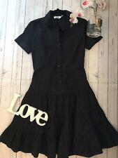 Moschino Jeans UK 6 us 4 DE 34 black button down shirt dress work office career