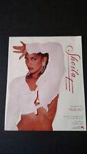 """SHEILA E. """" HOLD ME """"  (1987)  RARE ORIGINAL PRINT PROMO POSTER AD"""