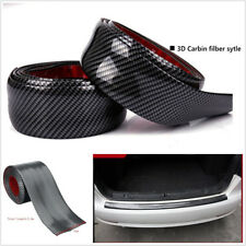 10cmX2m Door Sill Scuff Plate Skirt Eyebrow Protector Sticker Carbon Fiber Color