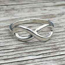Authentic Tiffany & Co Sterling Silver Infinity Ring size 7.5