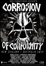 "CORROSION OF CONFORMITY ""NEW ZEALAND / AUSTRALIA 2014"" CONCERT TOUR POSTER"