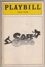 "Harvey Fierstein   ""Safe Sex""   Playbill  1987  Broadway  Anne De Salvo"