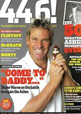 Four Four Six Cricket Magazine, The Ashes 2006-7, Shane Warne, Andrew Flintoff