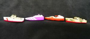 Micro Machines Galoob Boat Lot of 4 Pieces. See Notes.