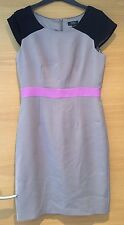 Papaya Dress Formal Work Party Grey Pink Black Size 12 Lined Taupe