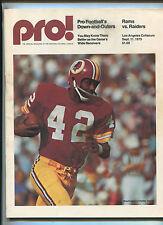 L.A. Rams Vs Oakland Raiders Sept.1975  NFL Football Game Program MBX37