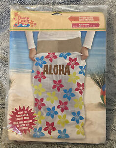 Tiki Hawaiian Party 6 Pack of Potato Sacks For 3 legged Races NEW