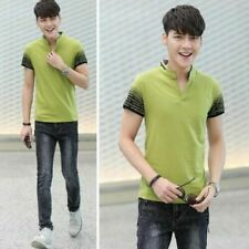 Unbranded Cotton Patternless Short Sleeve T-Shirts for Men
