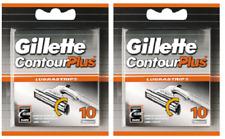 Gillette Contour Plus (Atra Plus) Refill Razor Blades - 20 Cartridges