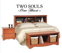 Two Souls One Heart Vinyl Wall Home  Art Words Decals Stickers Decor