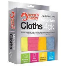 4Pk Microfibre Cleaning Cloths Dusters Car Bathroom Polish Towels Micro Fibre