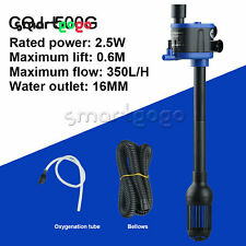 Water Air Pump Filter Submersible Low Power Consumption Fish Tank Aquarium BSG