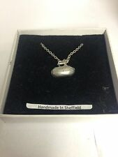 """CURLING STONE pp-g60 EMBLEMA in argento placcato in platino collana 18 """""""