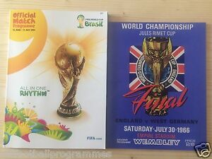 2014 FIFA WORLD CUP FINALS TOURNAMENT PROGRAMME + 1966 WORLD CUP FINAL (REPRINT)