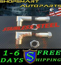2X O2 OXYGEN SENSOR ANGLED EXTENDER EXTENSION SPACER M18x 1.5 90 DEGREE 02 BUNG