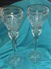 Vintage Pair Marquis by Waterford Irish Crystal single Candlesticks
