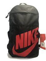 NIke Elemental Obsidian Backpack, Black/Red,  School, Book Bag, Travel, 0246