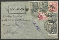 "SPAIN to ARGENTINA CENSORED Cover Airmail Cover 1940 ""Orense"" Cance V.Nice!"