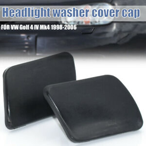 2PC For VW Golf IV Mk4 97-2006 HEADLIGHT HEADLAMP WASHER NOZZLE JET COVER CAP