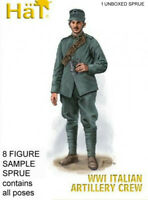 HaT 8259 WWI Italian Artillery Crew 1/72 Model Soldiers Kit - 1 SPRUE 8 figures