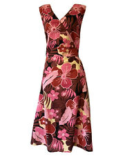 FAB Women's UK 18 Fit & Flare Dress Floral Holiday Beach Boho Cotton Sun Day