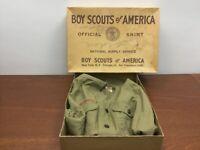 Vintage Boy Scouts of America BSA  V Neck Shirt 1940's World War II Era w/ Box