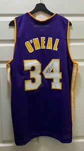 Shaquille O'Neal #34 Signed SHAQ Diesel Lakers Jersey AUTO Sz XL BAS WITNESSED