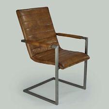 Schwingstuhl Freischwinger Designer Echt Leder Vintage Leder Nr.702 Stuhl Kassel