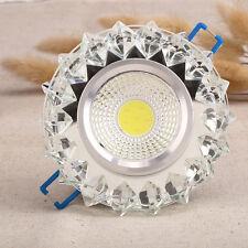 LED Cristal Luz Redonda Foco Empotrada Luminaria Techo Foco Hogar