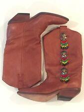 Genuine Leather Cowboy Boots Women's -Zodiac USA 80's Vintage